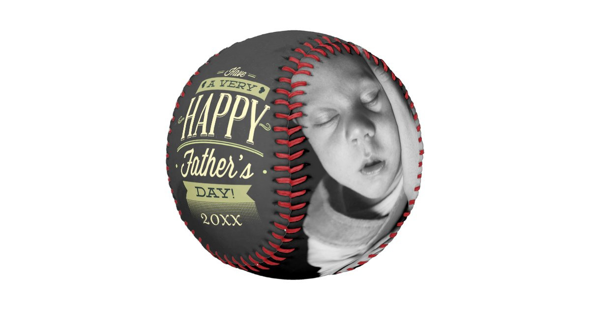 Fathers Day Personalized One Of A Kind Baseball Zazzle