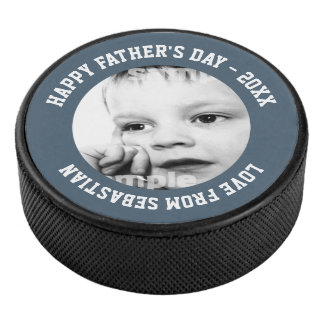 Fathers Day Personalized One of a Kind Hockey Puck