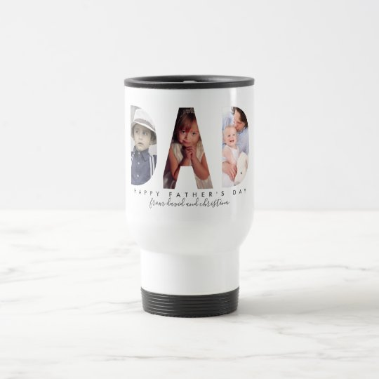 Father's Day Personalized Photo Collage Dad gift Travel Mug