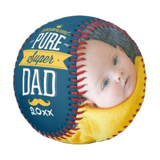 Fathers Day Personalized Pure Super Dad Baseball