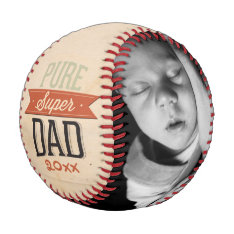 Fathers Day Personalized Super Dad Baseball at Zazzle