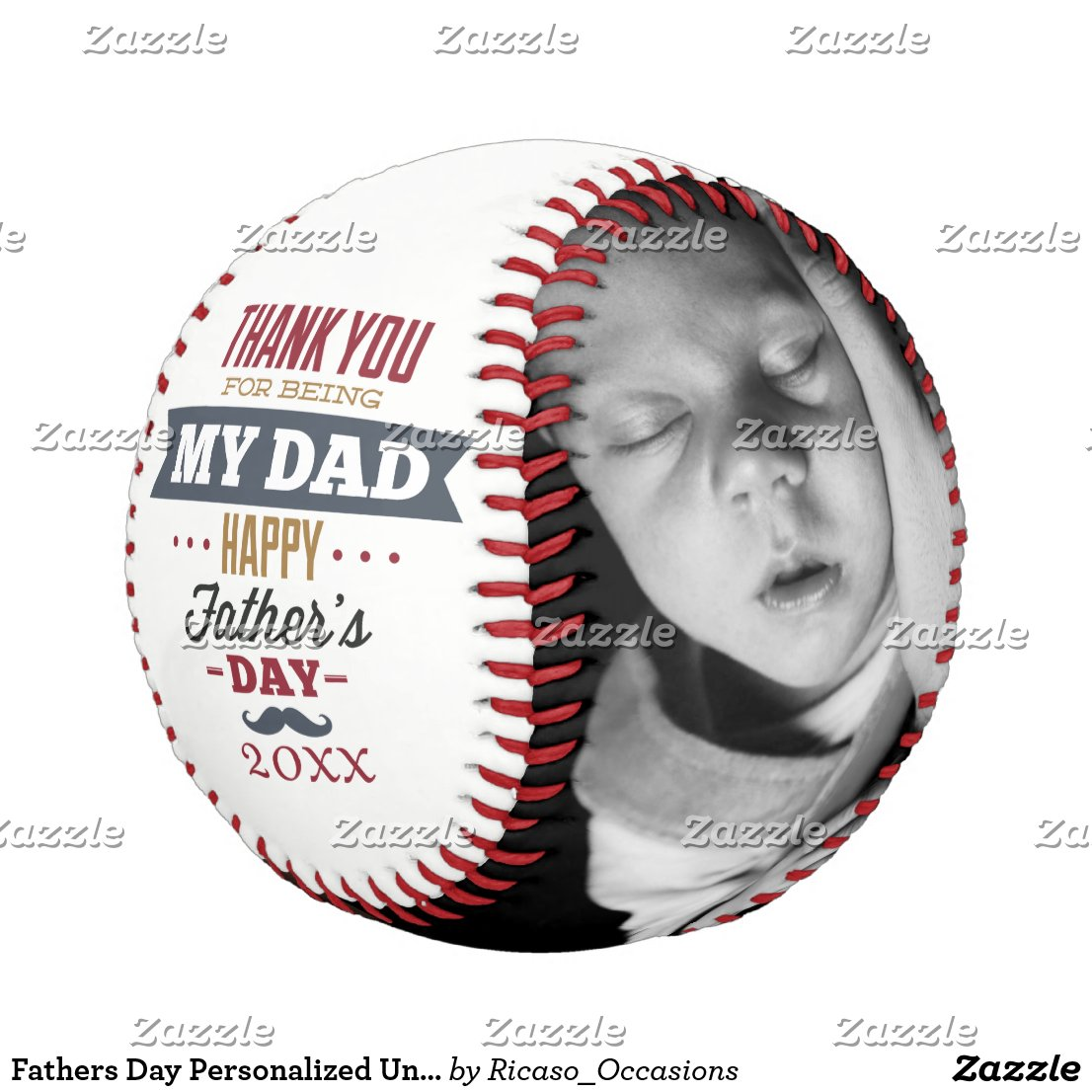 Fathers Day Personalized Unique One Of A Kind Baseball