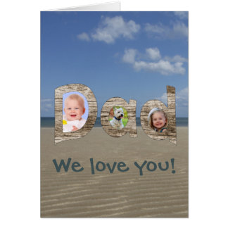 Father's Day Personalized Upload Your Photos Card