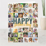 Father's Day Photo Collage Big Personalized Card