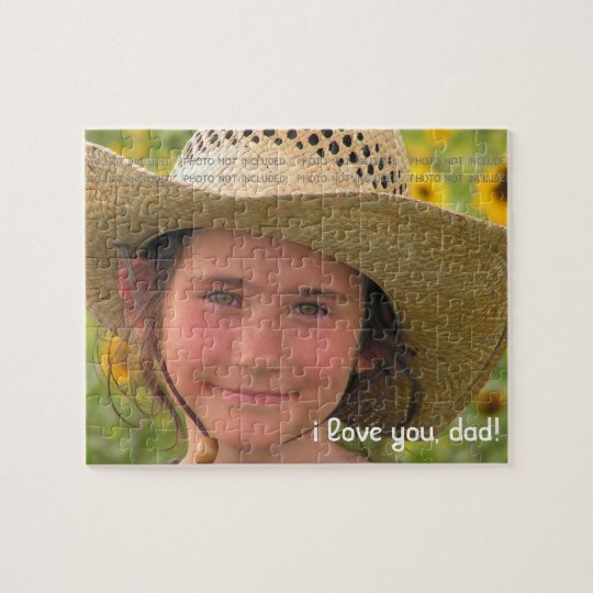 Fathers Day Photo Love You Dad Personalized Jigsaw Puzzle