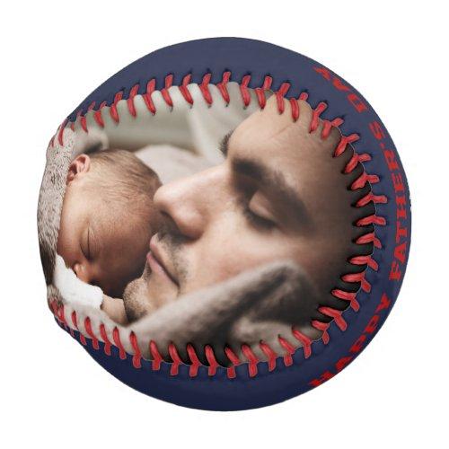 Fathers Day Photo Personalized Baseball