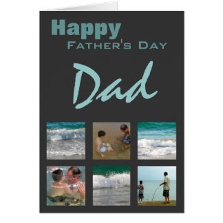 Father's Day Photo Template Card Greeting Cards