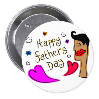 fathers day pinback button