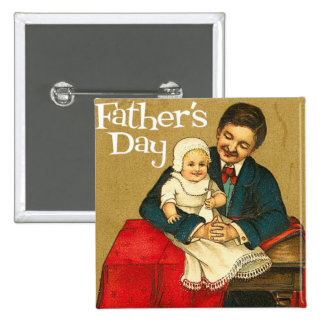 Father's Day Pinback Button