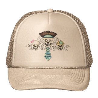 Father's Day Pirate Trucker Hat