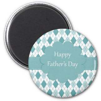 Fathers Day plaid Magnet