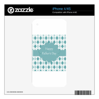 Fathers Day plaid Skins For iPhone 4