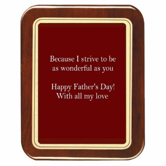 Father's Day Plaque 2 Magnet Acrylic Cut Outs