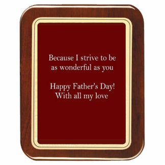 Father's Day Plaque 2 Sculpture