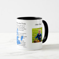 Fathers Day POEM PHOTO Mug - Hold My Hand Daddy