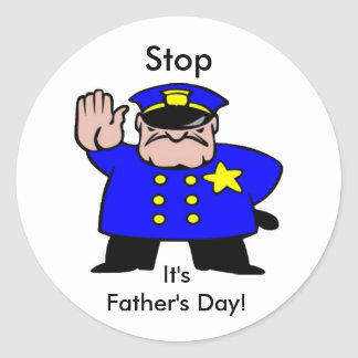 Father's Day Policeman Sticker