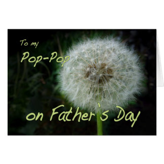 Father's Day Pop-Pop dandelion wish for Card
