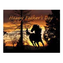 Father's Day Postcard Wild Horse Sunset Card