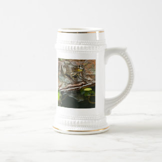 Father's Day Prince Frog Photo with Text 18 Oz Beer Stein