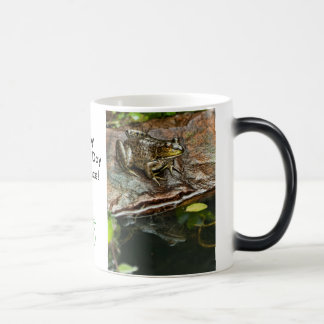 Father's Day Prince Frog Photo with Text 11 Oz Magic Heat Color-Changing Coffee Mug