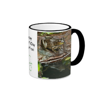 Father's Day Prince Frog Photo with Text Ringer Coffee Mug