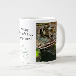 Father's Day Prince Frog Photo with Text 20 Oz Large Ceramic Coffee Mug