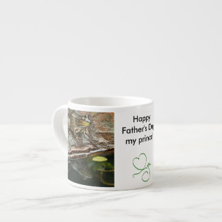Father's Day Prince Frog Photo with Text 6 Oz Ceramic Espresso Cup