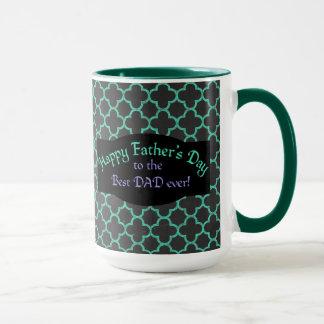 Father's Day Purple Green Pattern Mug
