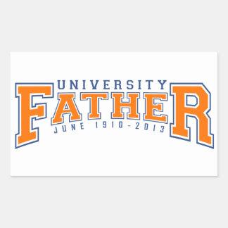 Fathers day rectangular sticker