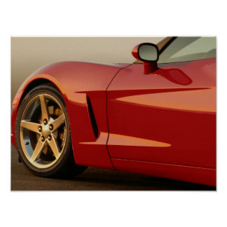 Father's Day Red Corvette Poster