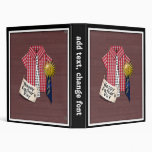 Father's Day Red Shirt with Barn Background Binders