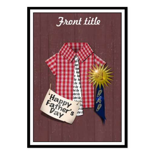 Father's Day Red Shirt with Barn Background Business Card Templates