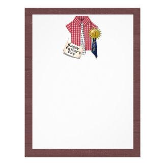 Father's Day Red Shirt with Barn Background Flyer