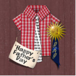 Father's Day Red Shirt with Barn Background Photo Cut Outs
