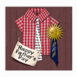 Father's Day Red Shirt with Barn Background Photo Cutouts