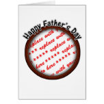 Father's Day Round Brown Photo Frame Greeting Cards