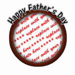 Father's Day Round Brown Photo Frame Photo Cut Out
