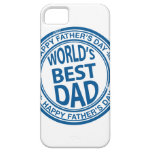 Father's day rubber stamp effect iPhone 5 covers