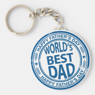 Father's day rubber stamp effect keychain