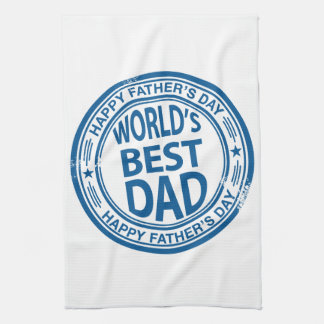 Father's day rubber stamp effect towel