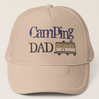 Father's Day / RV Camping Dad Trucker Hat Blue