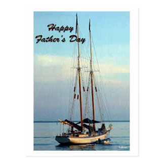 fathers day sailboat setting postcards
