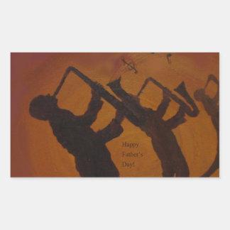 Father's Day Saxiphone Jazz Art Rectangular Sticker