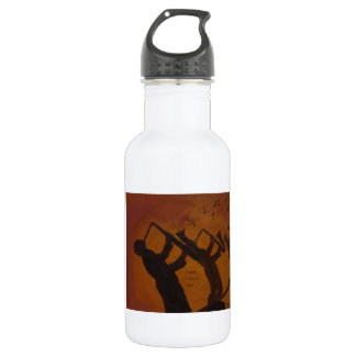 Father's Day Saxiphone Jazz Art Stainless Steel Water Bottle