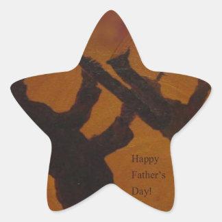 Father's Day Saxiphone Jazz Art Star Sticker