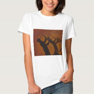 Father's Day Saxiphone Jazz Art T Shirt