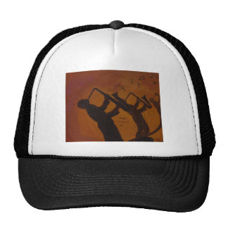 Father's Day Saxiphone Jazz Art Trucker Hat