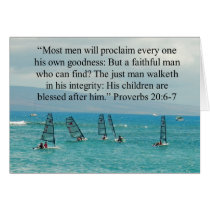 Father's Day Scripture Boats Card