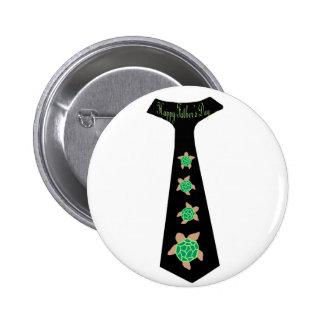Father's Day sea turtle tie design Button