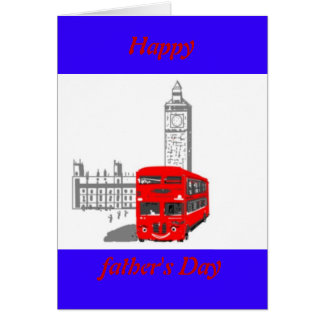 Fathers day,Smiling London Bus Card